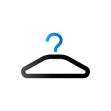 shop sign: Clothes hanger icon in duo tone color. Laundry household