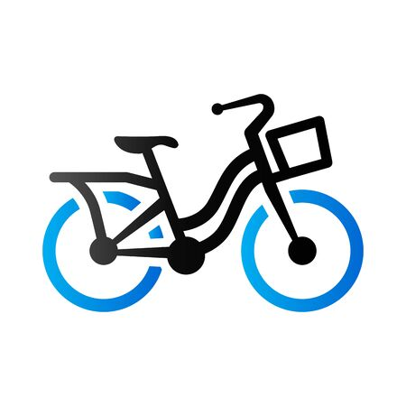 City bike icon in duo tone color. Transportation sport urban Illustration