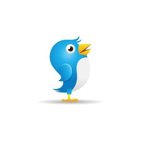 follower: Bird icon in color. Social media networking