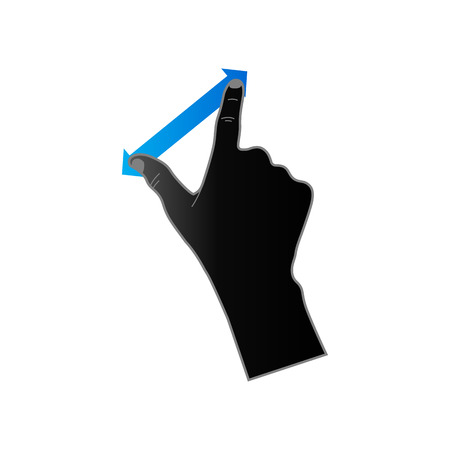hand touch: Finger gesture icon in duo tone color. Gadget touch pad smartphone laptop Illustration