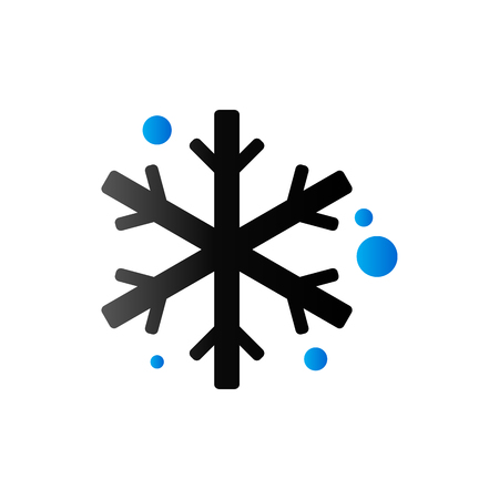 stars: Snowflakes icon in duo tone color. Winter snow December