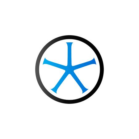 Icône de roue de bicyclette dans la couleur de ton duo. Tube de piste cyclable