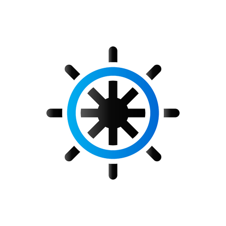 Ship steer wheel icon in duo tone color. Transportation sea navigate Illustration