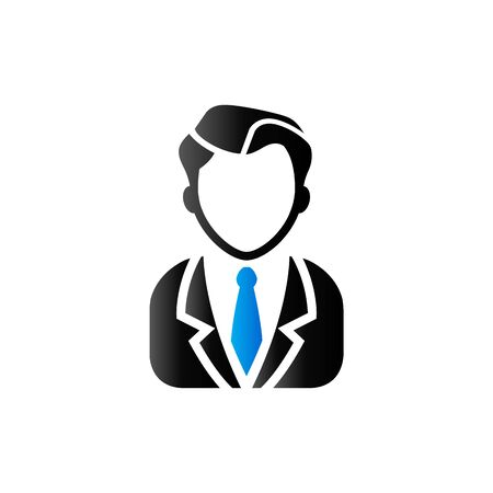 duo tone: Businessman icon in duo tone color. Business office finance