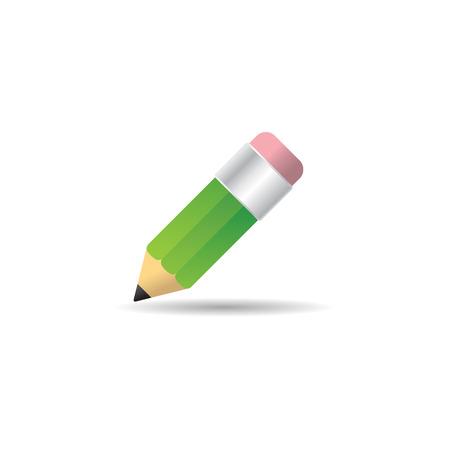 Pencil icon in color. doodling sketch plan