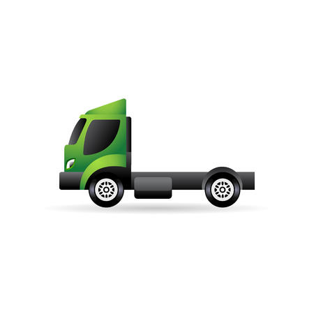 Empty container lift truck icon in color. Industry logistic distribution