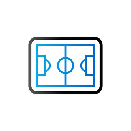 textured backgrounds: Soccer field icon in duo tone color. Sport competition team