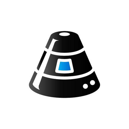 Űrkapszula ikon duó tónusú színben. Űrhajós űrhajó