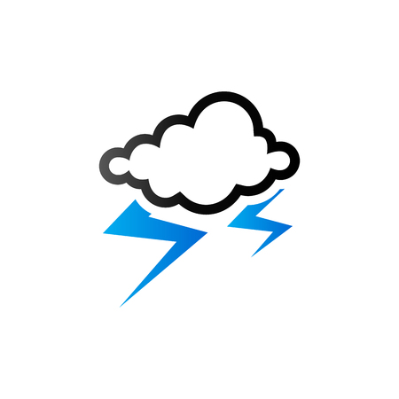 clouds: Weather overcast storm icon in duo tone color. Nature forecast thunder