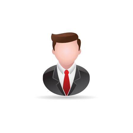 Businessman icon in color. Business office finance