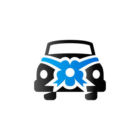 Wedding car icon in duo tone color.