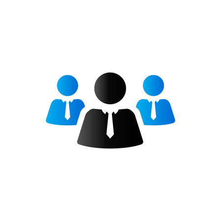 Teamwork icon in duo tone color. Business collaboration team Illustration