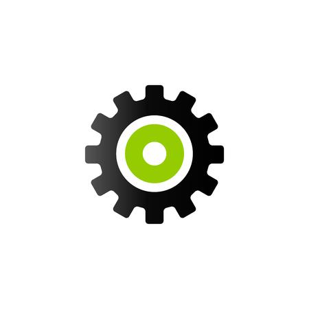 Setting gear icon in duo tone color. Illustration