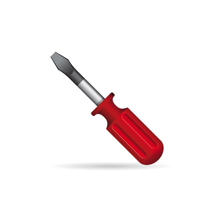 hand tool: Electric screwdriver icon in color. Machine household work tool