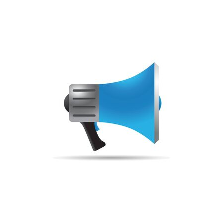mobile website: Megaphone icon in color. Loudspeaker demonstration propaganda