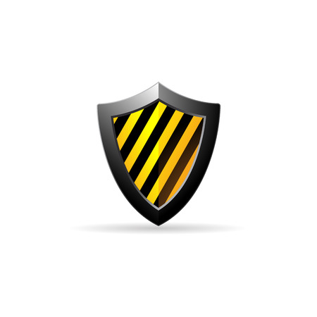 Shield icon in color. Protection computer antivirus Illustration