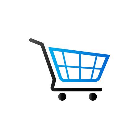 Winkelwagentje icoon in duotoon kleur. Koop ecommerce