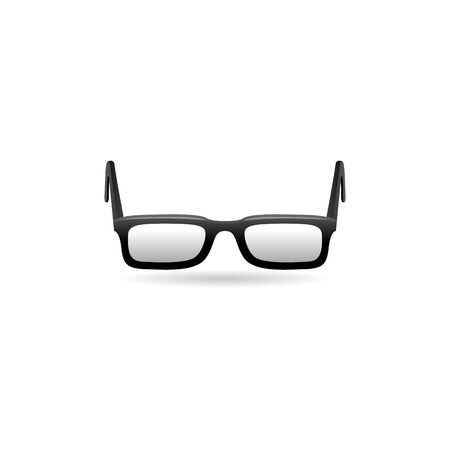 old people: Eyeglasses icon in color. Seeing device myopia