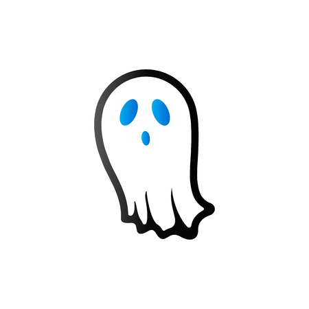 Halloween ghost icon in duo tone color. Spooky fear frighten Illustration