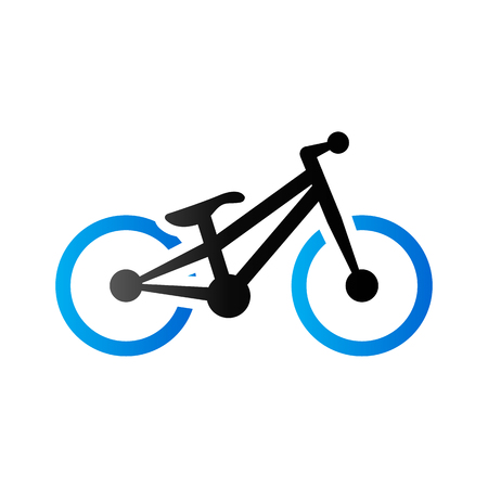 Trial bicycle icon in duo tone color. sport athlete bike