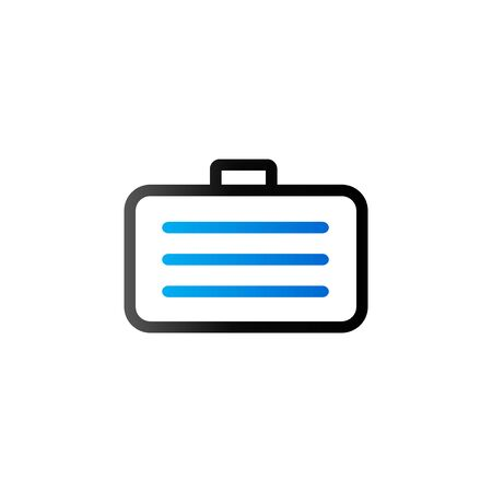 Business suitcase icon in duo tone color. Office document store Illustration