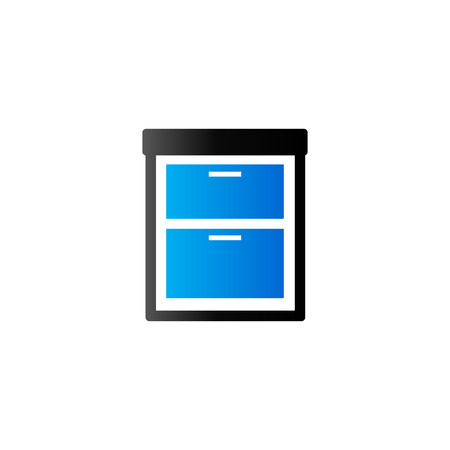 Office cabinet icon in duo tone color. Files document information