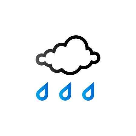 Rainy icon in duo tone color. Season forecast monsoon wet Illustration