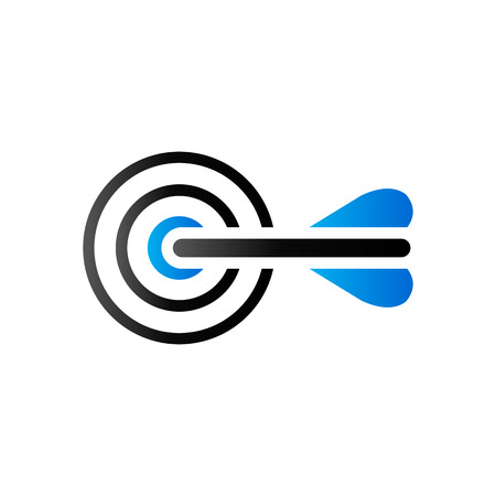 Arrow bullseye icon in duo tone color. Business sport strategy Illustration