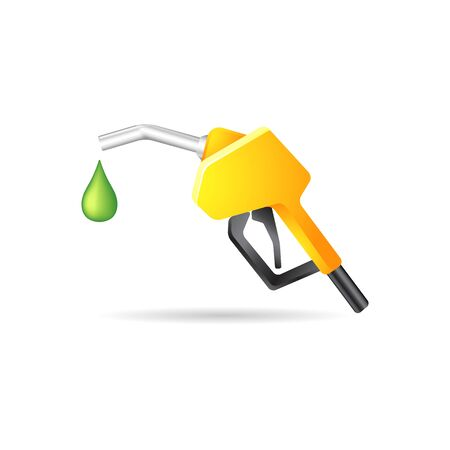 dispenser: Gas dispenser icon in color. Oil gasoline fuel