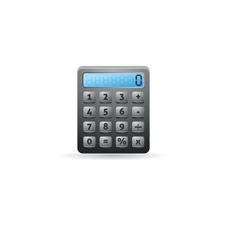 communication icons: Calculator icon in color. Calculate electronic finance