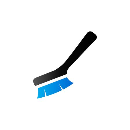 toilet: Brush icon in duo tone color. Toilet sanitary cleaning Illustration