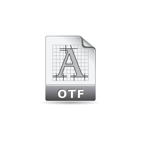 paper sheet: Open type file format icon in color. Computer program system font