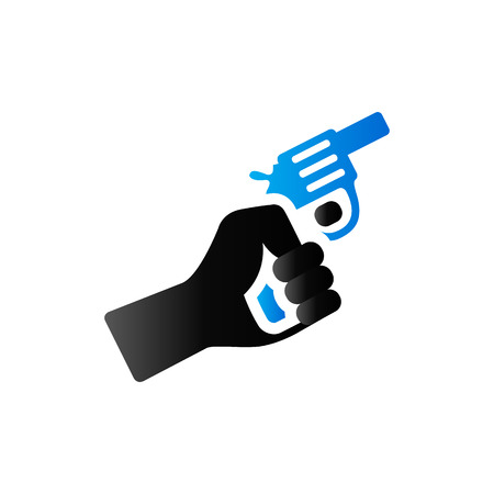 duo tone: Starting gun icon in duo tone color. Sport sign start athletic Illustration