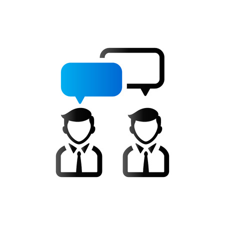 communication icons: Teamwork icon in duo tone color. Business collaboration team Illustration