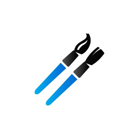 Paint brushes icon in duo tone color. Artist painting drawing