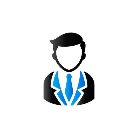 User avatar icon in duo tone color. Social media blog forum