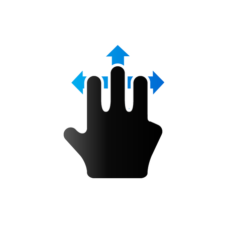 pad: Finger gesture icon in duo tone color. Gadget touch pad smartphone laptop Illustration