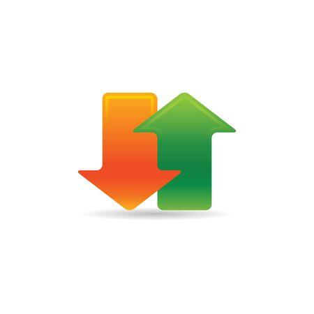 Arrows icon in color. Communication data traffic Ilustrace