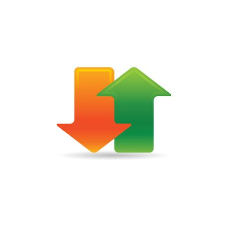 Arrows icon in color. Communication data traffic Illustration