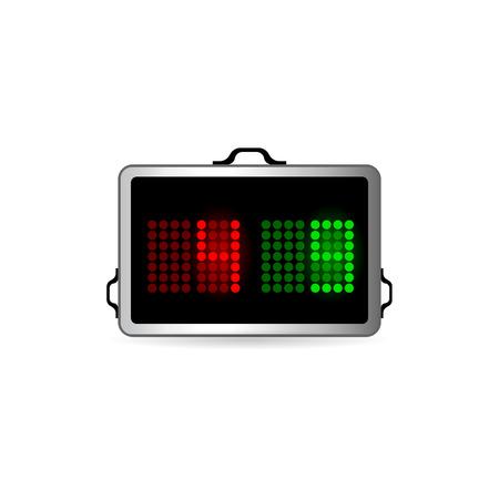 Spielerauswechslung Board-Symbol in der Farbe. Fußball Fußball-Spiel spielen