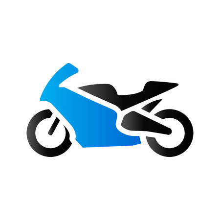 Motorcycle icon in duo tone color. Sport speed race Illustration