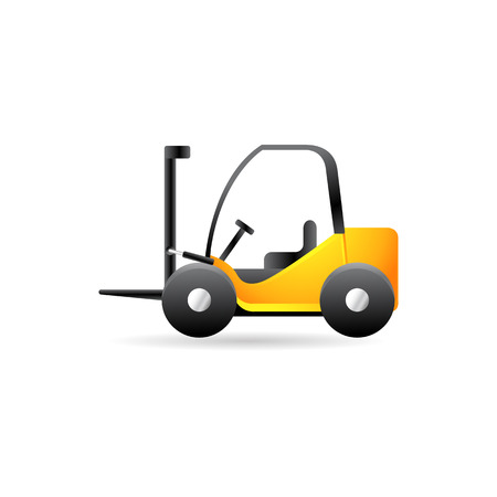Forklift icon in color. Industrial vehicle warehouse