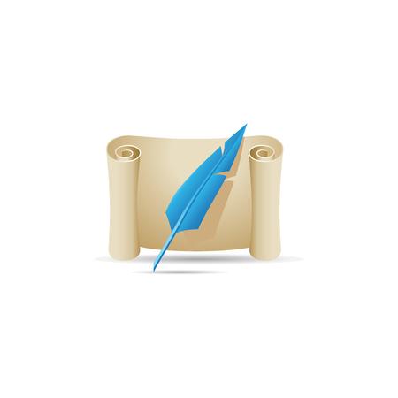 letter: Letter icon in color. Message postal correspondence Illustration