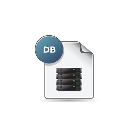 clouds: DB File format icon in color. Extension database queries