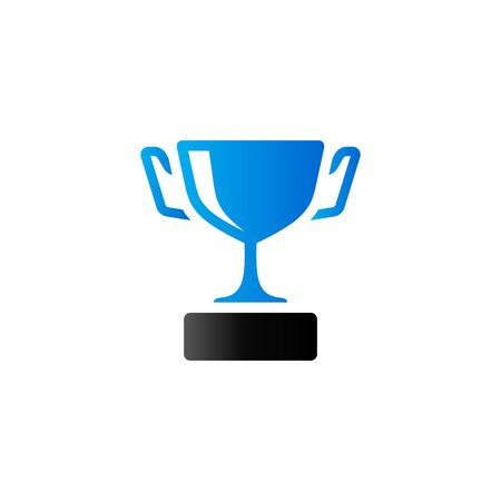 prize winner: Trophy icon in duo tone color. Winner champion prize Illustration