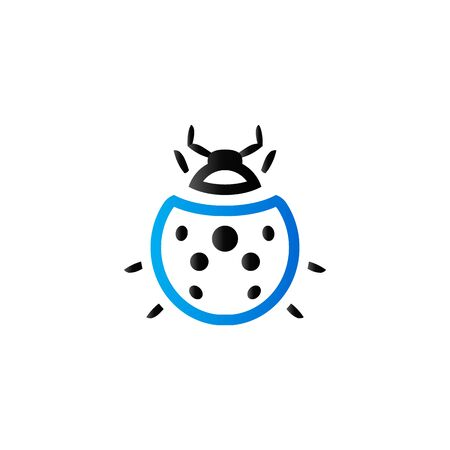 Bug icon in duo tone color. Insects, computer virus
