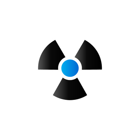 fission: Radioactive symbol icon in duo tone color. Science research nuclear energy