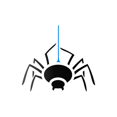 duo tone: Spider icon in duo tone color. Animal arachnid spooky Halloween