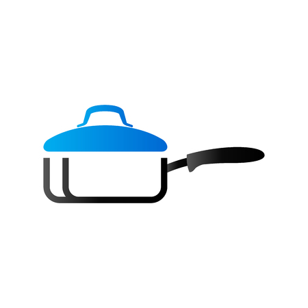 Cooking pan icon in duo tone color. Food restaurant chef utensil Illustration