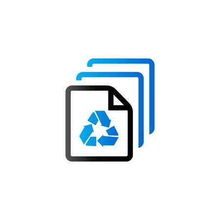 reciclable: Recycle symbol icon in duo tone color. Environment recyclable paper